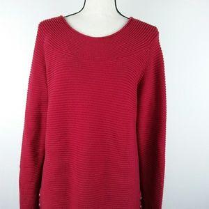 Talbots Red 100 percent Cotton Sweater